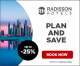 Plan and Save with Radisson Hotels up to -25%